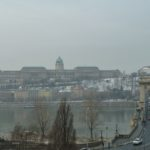 The view from my Suite (305) – Chain Bridge, the Danube and Castle Hill