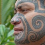 mata tiki - the island's top tattoo artist.