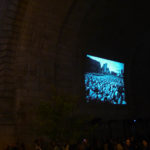 Slideshow projection under the Manhattan Bridge