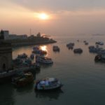 Sunrise over the Arabian Sea ... and the Gateway of India