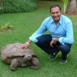With Colombo, the giant tortoise, arguably the most famous inhabitant on Madeira.