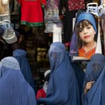 Women at a cloth bazaar in Kabul; Taken by Steffen Diemer with the Leica S2