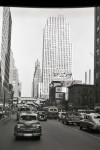 New York City street scene in June 1950 on arrival in America.