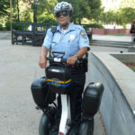 "Officer Ruiz models the Segway - the preferred choice of transport for ""Philly's Finest"""