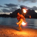 Fire-dancing on Bora Bora.