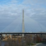 The Leonard P. Zakim Bunker Hill Memorial Bridge sits over the Charles River, and with ten lanes is the world's widest cable-stayed bridge.