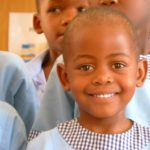 A pupil at the Motse Wa Tsholofelo Daycare centre in Botswana.