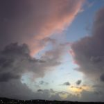 A thunderstorm above the airport nearly left us stranded us on the island; the clouds at sunset looked decidedly angry.