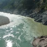 At Deoprayag - where the River Ganges is created by two different coloured rivers