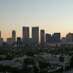 Century City at dusk - not a bad distance shot from a compact camera