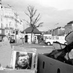 Dead President: A portrait of president Kennedy for sale at a flea market