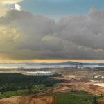 A storm rolling in above a development site in Johor © Justin Guariglia
