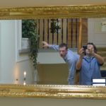 James (Field Producer) & Tim goof about with a Leica D-Lux 5. It's a well-framed photograph!