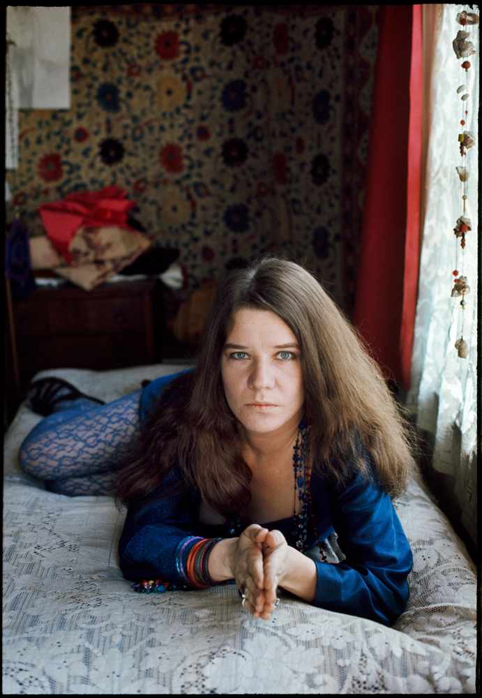 © Jim Marshall Photography LLC; Janis Joplin in her apartment on Lyon Street San Francisco California 1968