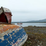 Ship cemetery in Puerto Natales, Chile