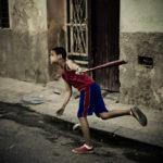 Swing! Baseball is the most popular street sport