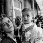 Sarajevo - A City Under Siege © Tom Stoddart/Getty Images | Tears of anguish for a mother as she prepares to send her confused child out of Sarajevo on a bus, promised safe passage by the Serb forces during the siege in 1992.