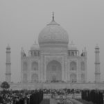 No, it's not the Taj Mahal in November 1910, but in November 2010. I felt that the Taj looked so much more beautiful and striking in black & white.