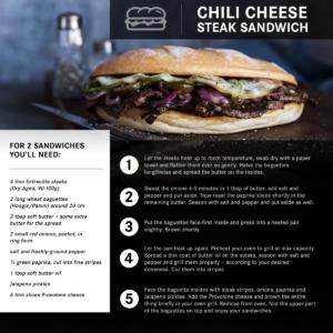 Oliver Brachat's Chili Cheese Steak Sandwich recipe