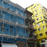 On Stone Nullah Lane, Wan Chai you will find this 4-storey tenement, the Blue Building. It's Grade-1 listed so this building is now protected from development.