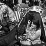 Royal fans (referred to as superfans) camped out overnight opposite Westminster Abbey.  Thursday, April 28, 2011. Photo: Edmond Terakopian