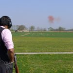 Skeet shooting is not easy. The Leica captures the very moment when a clay explodes on impact with shot