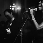 The Jazz Singer: a performer sings at the annual Technical Ball
