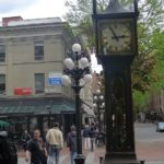 The steam clock - located in Gastown - was designed and built by Canadian horologist Raymond Saunders