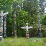 The world famous totem poles in Stanley Park