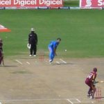 West Indies play India at cricket at the Sir Vivian Richards Cricket Stadium ... India won!