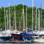 Yachts moored in Falmouth Bay - a historical highlight in Antigua