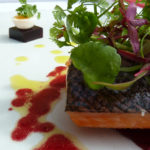 A salmon dish prepared by Michelin-starred chef Charlie Lockley at the Boath House in Nairn. By Varun Sharma