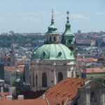 The Charles Bridge and domed views from The Castle by Varun Sharma, V-Lux 20