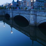 Dublin and the River Liffey at dusk by Tom Grill